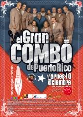 Cartel para concierto de el gran combo de puerto rico.