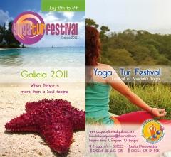 Festival de yoga: portada folleto promocional