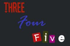 Logotipo three four five
