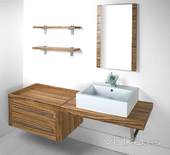 Muebles lavabo madera 20170902180756 - Encimeras de madera para banos ...
