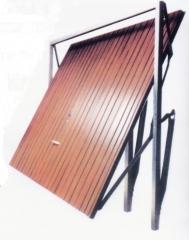 Puerta basculante de muelles imitaci�n madera