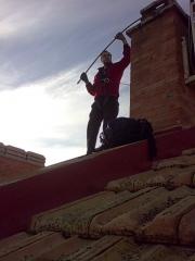 Deshollinado desde tejado