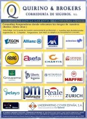Quirino & brokers compa��as aseguradoras donde colocamos los riesgos de nuestros clientes (entre otr