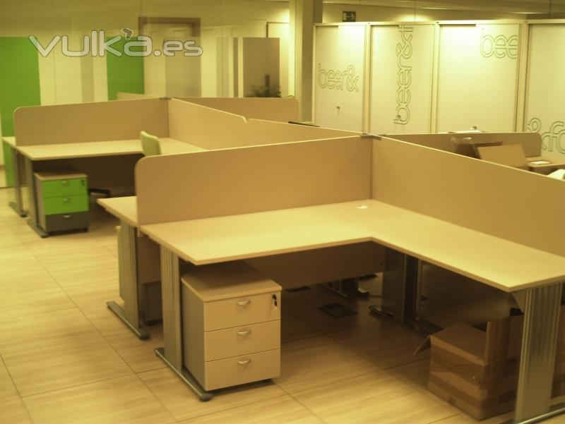 Foto mobiliario de oficina puestos operativos for Separadores de oficina