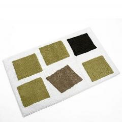 Alfombra de ba�o cuadros verdes marron en lallimona.com