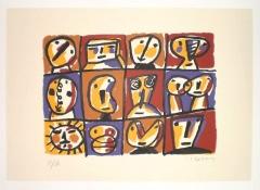 Serigraf�a jorge cabezas n� 1 - 50 x 70 - 150 eur.