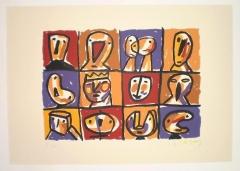 Serigraf�a jorge cabezas n� 3 - 50 x 70 - 150 eur