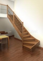 Escalera recta de madera modelo aris