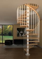 Escalera de caracol en madera modelo avant