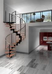Escalera espiral modular modelo doxa spiral