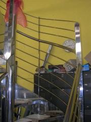 Detalle barandilla de escalera de caracol