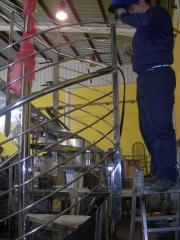 Detalle escalera caracol inox a316