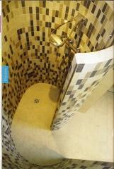 Panel prefabricado para embaldosar para la construccion de ducha de caracol