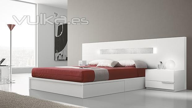 Foto dormitorio moderno en blanco del catalogo urban - Dormitorios modernos en blanco ...