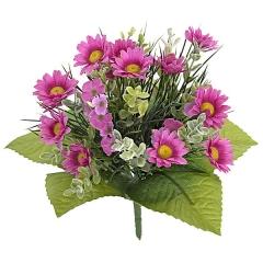 Bouquet de flores artificiales mini margaritas en lallimona.com