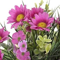 Bouquet de flores artificiales mini margaritas en lallimona.com detalle1