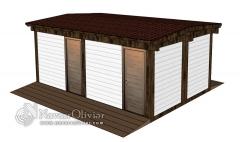 Casetas para trasteros y almacén de madera para chiringuito