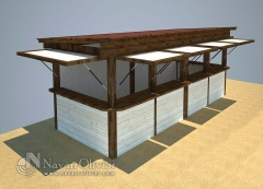 Caseta de madera para venta de productos y souvenir
