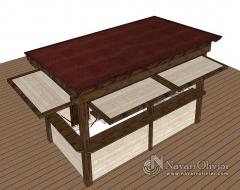Caseta de madera  chiringuito