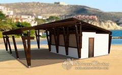 Chiringuito de madera de dise�o minimalista, fabricante nacional