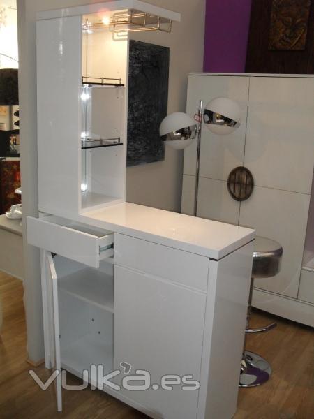mueble bar lacado blanco