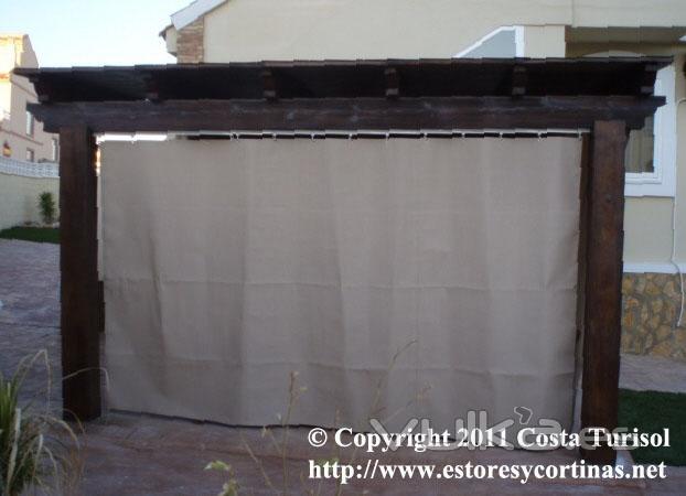 Foto cortinas de lona acrilica para tapar balcones porches terrazas etc - Estores para balcones ...