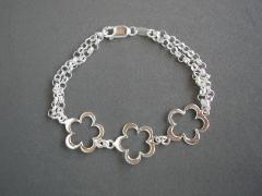 Colecci�n pulseras primavera en plata de 1� ley. m�s modelos en www.elrincondemisalhajas.es