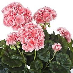 Planta artificial flores geranios rosas en lallimona.com detalle1