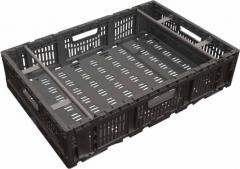 Caja plegable y reutilizable. productos alimenticios.