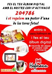 Con tu album digital, te regalamos un poster de una  foto, recuerda introducir el codigo 204786