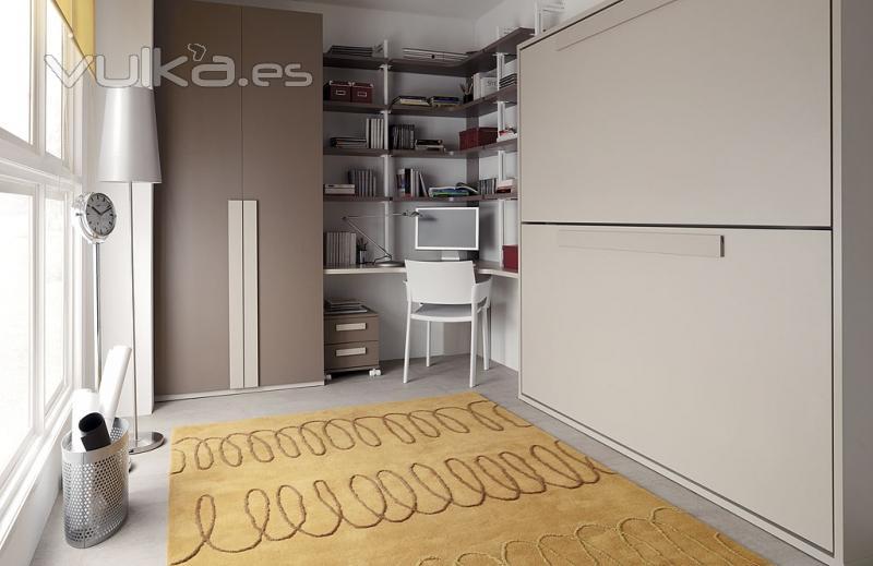 Foto habitacion juvenil con armario 2 puertas y litera doble - Habitacion juvenil doble ...