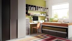 Muebles juveniles con armario de puertas batientes del catalogo de muebles slang