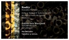 Rosk2 martínez - roscas, taladros, mecanizados en general