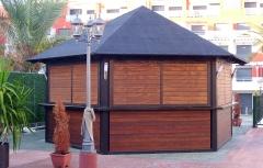 Caba�a de madera para negocio