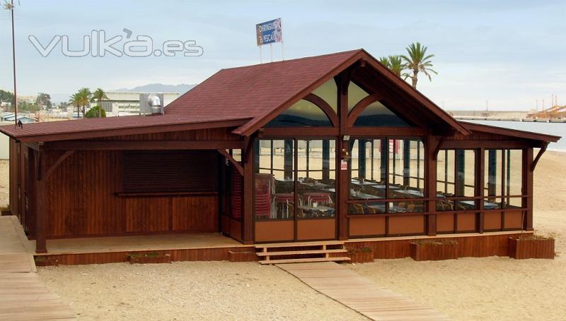 foto chiringuito restaurante en la playa. Black Bedroom Furniture Sets. Home Design Ideas