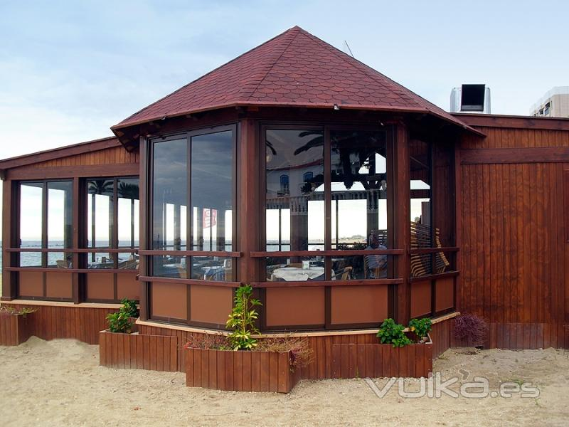 Foto estructura de madera para casa y cabana for Como construir un kiosco en madera