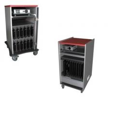 Mobiliario para port�tiles y miniport�tiles.mueble m�vil precableado, fuente centralizada y altavoce