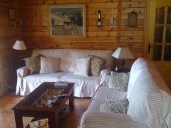 Salon de estar casa de madera