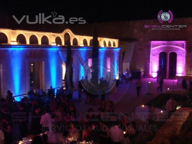 Foto iluminaci n decorativa exterior para evento - Iluminacion decorativa exterior ...