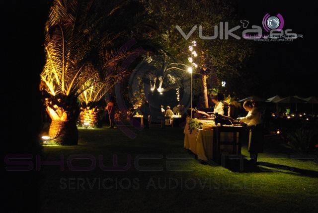 Show center servicios audiovisuales - Iluminacion decorativa exterior ...