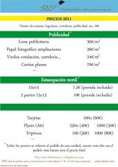 Precios SIC 2011