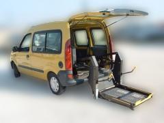 Plataforma hidr�ulica y autom�ticas para sillas de ruedas.