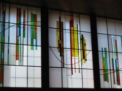 Vidrieras emplomadas y pegadas. iglesia de nueva segovia. segovia.