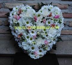 Corazon de flores naturales, envios a tanatorios