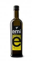 Aceite arbequina. aceite de oliva virgen extra emi
