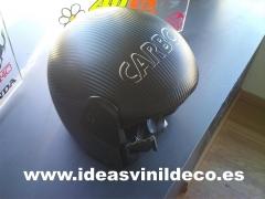 casco ,vinilo fibra de carbono