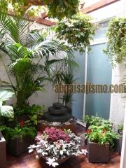 Jardin interior con fuente