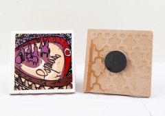 Im�n de nevera azulejo 7x7 plaza toros, colecci�n souvenir spain de souvenirs valentia