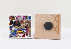 Im�n de nevera azulejo 7x7 spain culture, colecci�n souvenir spain de souvenirs valentia