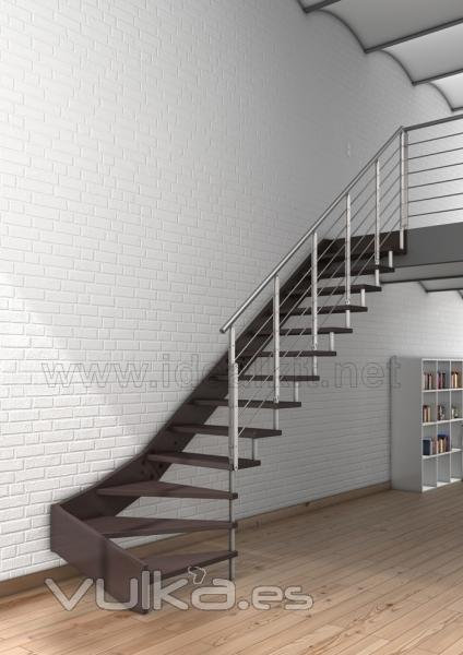 Escaleras Voladas De Madera Cool Para Tener Esto With Escaleras